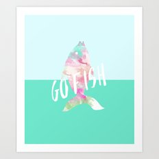 Go Fish With Quote #society6 Art Print