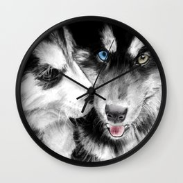 Toi mon amours Wall Clock