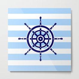 AFE Nautical Helm Wheel Metal Print