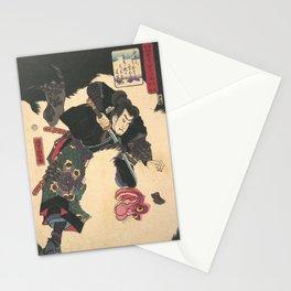 The Warrior Slaying the Giant White Hihi by Utagawa Yoshitora Stationery Cards