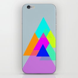 Triangles - neon color scheme series no. 1 iPhone Skin