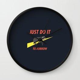 Just do it tomoz Wall Clock