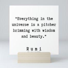 133  | Rumi Quotes | 190221 Mini Art Print