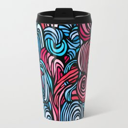 Swirl Design -- Pink & Blue Travel Mug