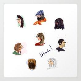 Faces of Spain Art Print