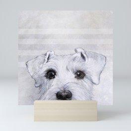 Schnauzer original Dog original painting print Mini Art Print