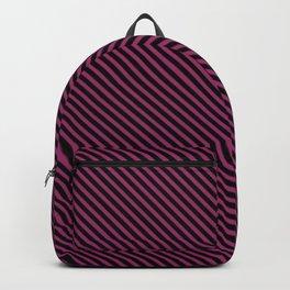 Festival Fuchsia and Black Stripe Backpack