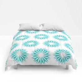 Turquoise Modern Sunbursts Comforters
