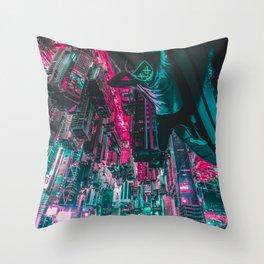 Cyberpunk Mask Throw Pillow