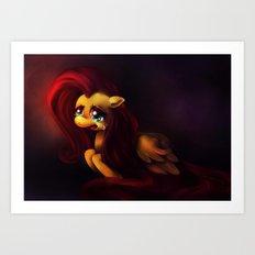 Pinkie Cry Art Print