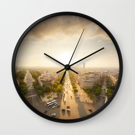 Champs Elysees From the Top Wall Clock