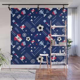Love Football Background Wall Mural