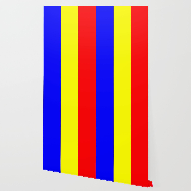 Flag Of Romania 2 Romaniaromanianbalkanbucharestdanuberomaniromanabucuresti Wallpaper