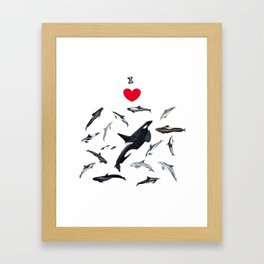I love dolphins Framed Art Print