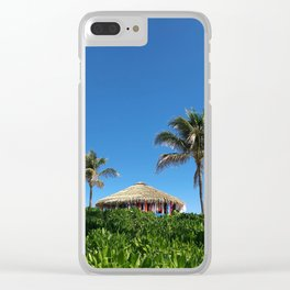 Bahamian Tropical Tiki Hut Clear iPhone Case