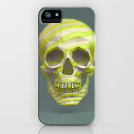 Yellow pop candy skull 3D render. iPhone Case