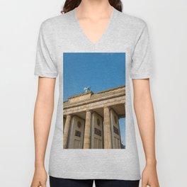 The Brandenburg Gate in Berlin Unisex V-Neck