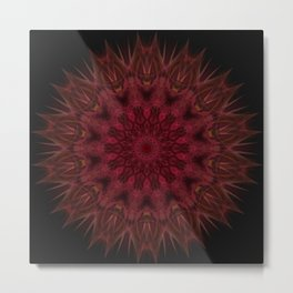 red mandal flower Metal Print