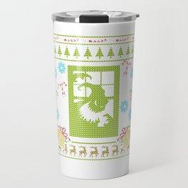 Scary Christmas Ugly Sweater Design Shirt Travel Mug