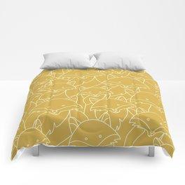 Minimalist Red Fox Comforters