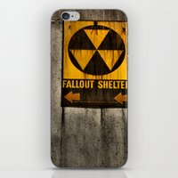 fallout iPhone & iPod Skins featuring Fallout Shelter by Julie Maxwell