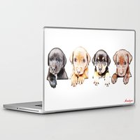 puppies Laptop & iPad Skins featuring cachorros ( puppies  ) by arnedayan