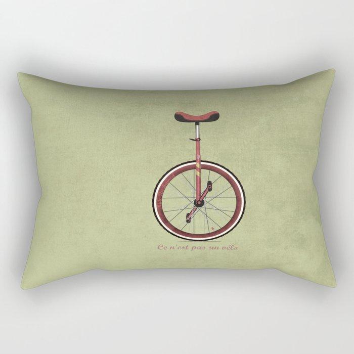 Unicycle Rectangular Pillow
