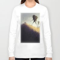 giants Long Sleeve T-shirts featuring The Earth Giants by Bess A. Yontz
