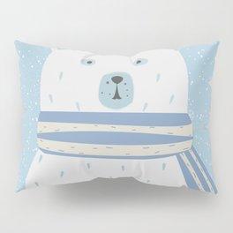 Polar White Bear with Scarf Pillow Sham