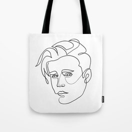 Justin - single line art Tote Bag