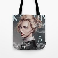 snk Tote Bags featuring SnK Magazine: Annie by emametlo