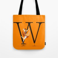 eames Tote Bags featuring Willow & Eames by ChicksAndType