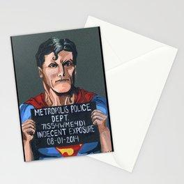 Superman perhero Mug Shot Stationery Cards