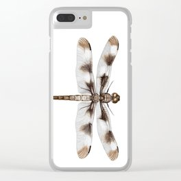 Twelve-Spotted Skimmer Dragonfly Clear iPhone Case