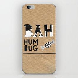 Bah Humbug! - Christmas Card iPhone Skin