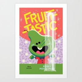 Rosey Posey Pear Art Print