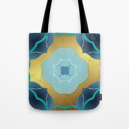Vintage Tiles: Yellow Tote Bag