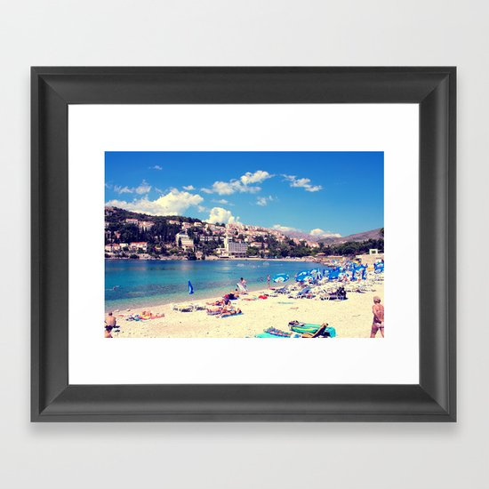 ADRIATIC SUMMER Framed Art Print