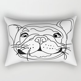 Smilie Frenchie Rectangular Pillow