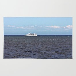Yatch and Birds Racing Rug