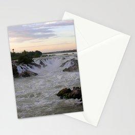 Mekong River Li Phi Waterfalls, sunrise, dawn, Laos Stationery Cards