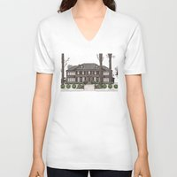 home alone V-neck T-shirts featuring Home Alone Christmas by M. Gulin