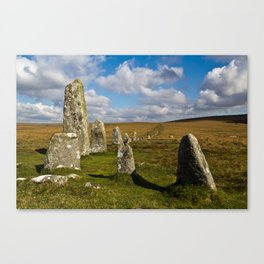 Dartmoor Stone Row Canvas Print