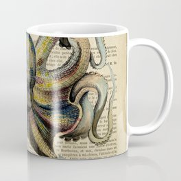 Book Art Octopus Color Coffee Mug