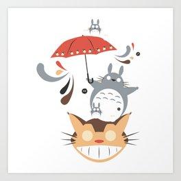studio ghibli umbrella Art Print