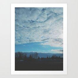 blue sky view Art Print