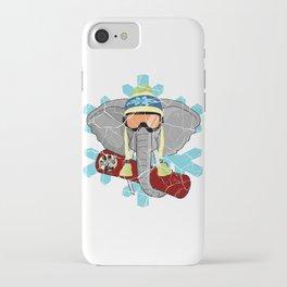Elephant Snowboard | DopeyArt iPhone Case
