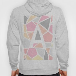 Letter A Geometric Shapes in Warm Colors Hoody