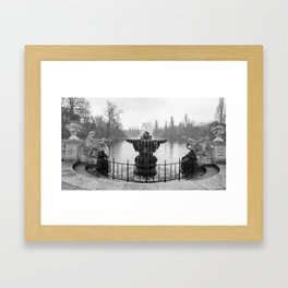 Fountains in Kensington Park of London, England Framed Art Print