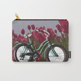 Ridin' through Tulips Carry-All Pouch